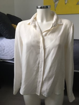 Zara Dmen Oberteil Bluse Hemd weiß/creme, leicht Gr. S