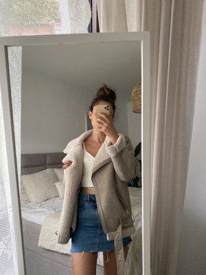 Zara Veste motard crème-beige