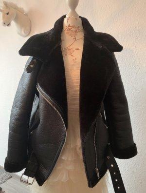 Zara Doubleface Jacke/Bikerjacke, schwarz, Größe XS