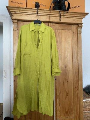Zara Women Robe chemise vert prairie