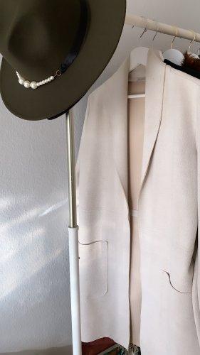 Zara Blazer en cuir beige clair