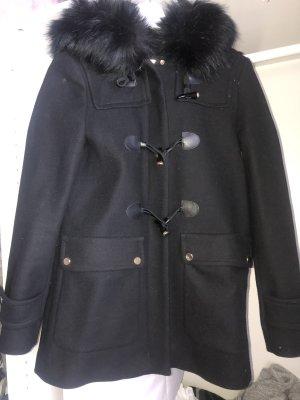 Zara Duffle-coat bleu foncé