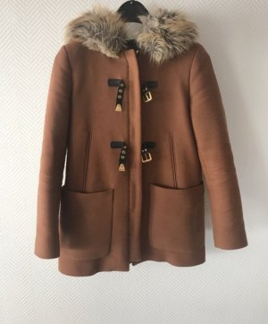 Zara - Dufflecoat Wintermantel mit Fake-Fur Gr. 36/S