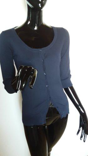 Zara, dunkelblaue 3/4 Arm Strickjacke Gr. S