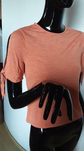 Zara, dunkeloranges Shirt, Ärmel offen zum Binden, Gr. S