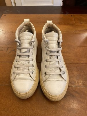 Zara High Top Sneaker white leather