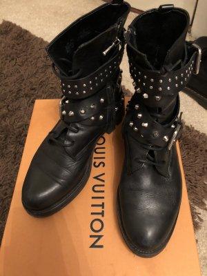 Zara echtleder Stiefel  leather Biker Boots 37 nieten