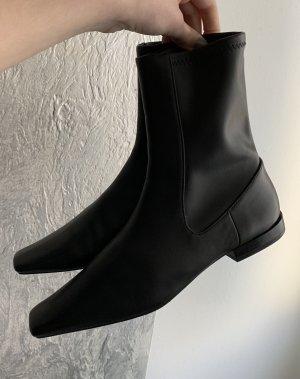Zara Slip-on laarzen zwart Leer