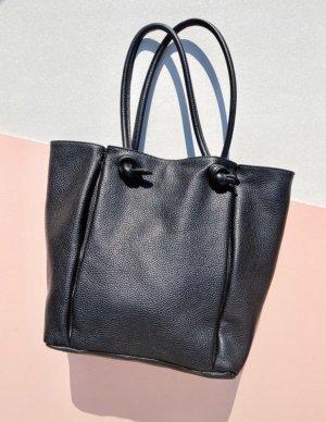 Zara Echtleder Tasche Shopper Minimalist Clean Chic Blogger Knoten Street Style