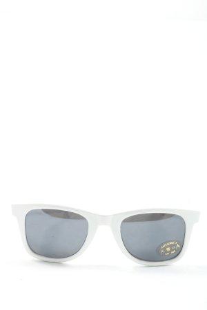 Zara Gafas de sol cuadradas blanco look casual