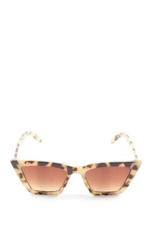 Zara eckige Sonnenbrille wollweiß-braun Animalmuster Casual-Look