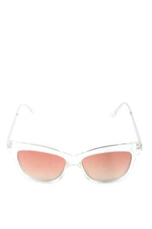 Zara eckige Sonnenbrille hellgrau-schwarz Casual-Look