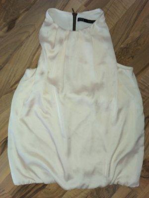Zara Basic Off-The-Shoulder Top cream-oatmeal polyester