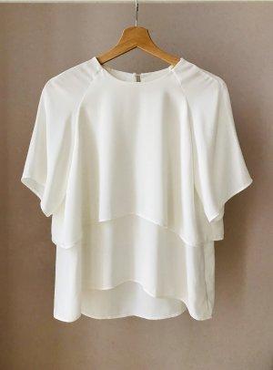 ZARA Elegante Bluse in Weiß