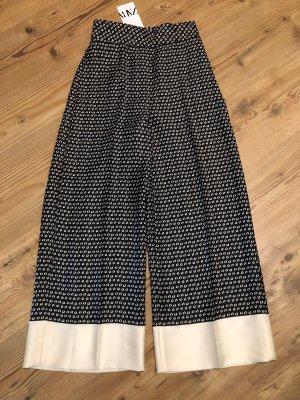 Zara ❤️ elegante Culotte schwarz creme high waist ❤️ XS 34