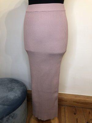 Zara ❤️ eleganter Maxirock rosé rosa ripped ❤️ S 36