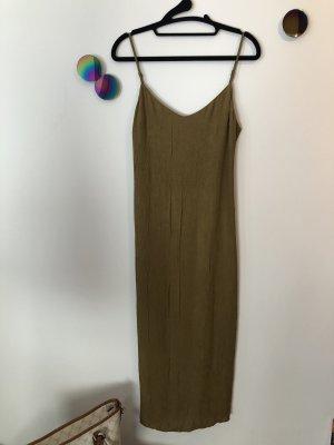 Zara ❤️ elegantes Midikleid olive ocker crushed ❤️ S 36