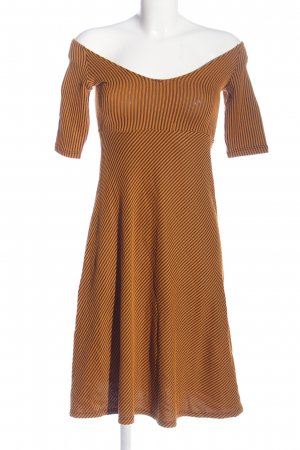 Zara Empire Dress light orange-black striped pattern casual look