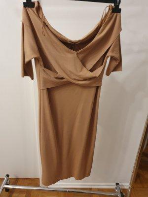 Zara enges Jersey Kleid bodycon beige Gr. M Neu