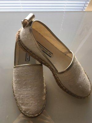 Zara Alpargatas color oro-blanco puro