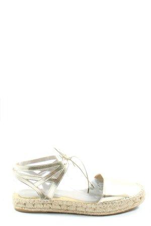 Zara Espadrille Sandals cream-gold-colored casual look