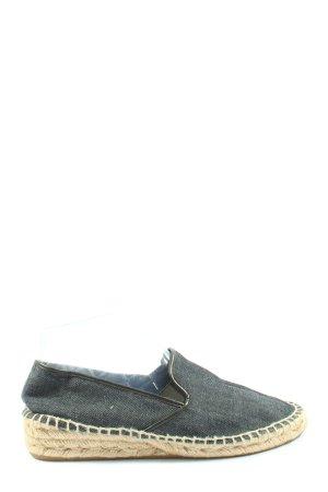 Zara Espadrille sandalen blauw Webpatroon casual uitstraling