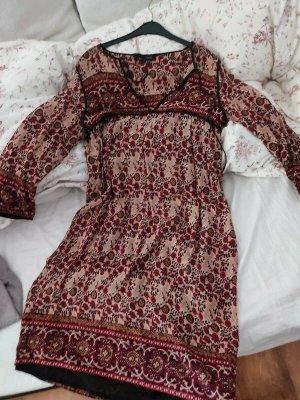 Zara Ethno Kleid Boho Midi Blumen Hippie Gypsy