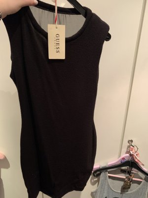 Zara Etuikleid schwarz mit transparentem Rücken