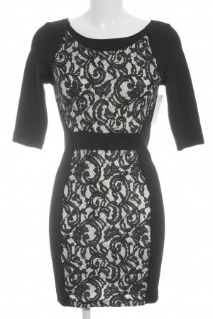 Zara Etuikleid schwarz-wollweiß Elegant