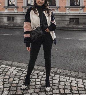 Zara Fake Fur Collegejacke M