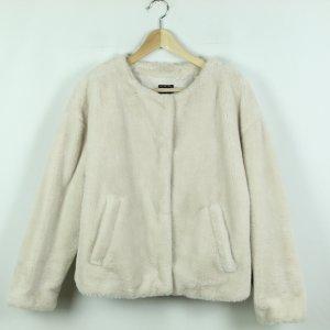 Zara Veste en fausse fourrure beige clair polyester