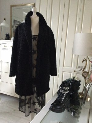 Zara Fake Fur Jacke Persianeroptik schwarz Gr. M neu
