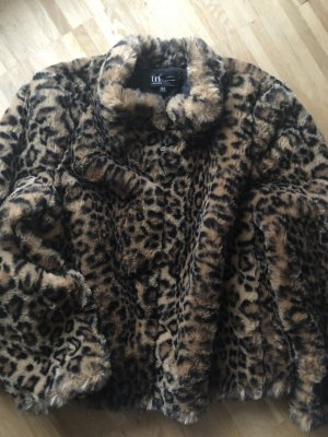 Zara Fake Fur Jacke XL 42 neu Leopard Leo Mantel