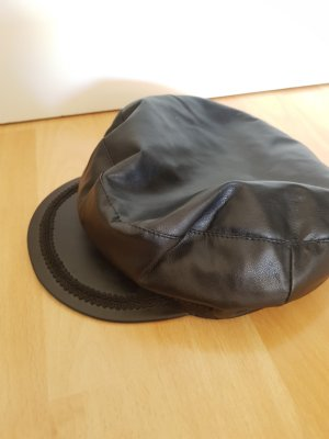 Zara Fake Leder Baker Boy Mütze