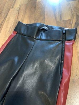 Zara Trafaluc Leggings nero-rosso scuro
