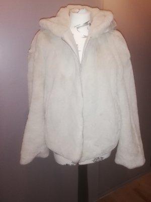 Zara Veste en fourrure beige clair polyester