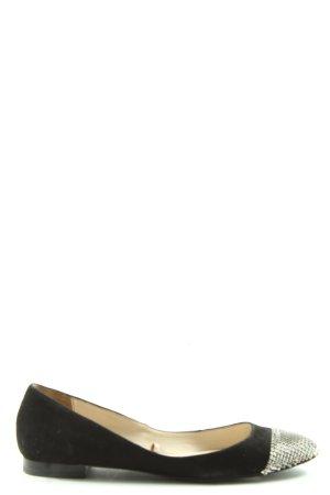 Zara faltbare Ballerinas schwarz-silberfarben Casual-Look