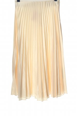Zara Faltenrock creme Casual-Look