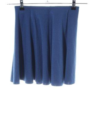 Zara Faltenrock blau Casual-Look