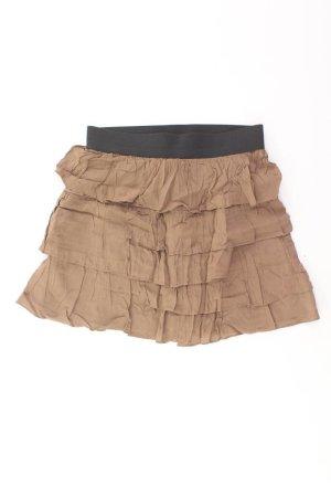 Zara Faltenrock Größe L braun aus Viskose