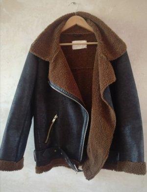 Zara Faux Leather Jacket brown