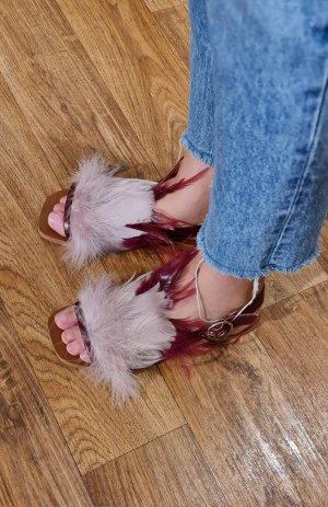 Zara Feder echt Leder Sandale