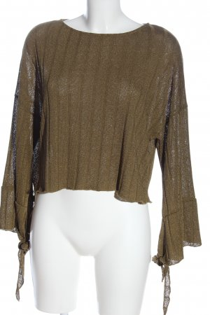 Zara Feinstrickpullover braun Casual-Look