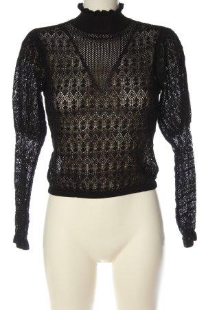Zara Feinstrickpullover schwarz Elegant