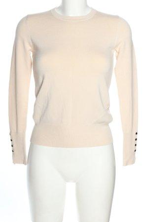 Zara Feinstrickpullover wollweiß Casual-Look