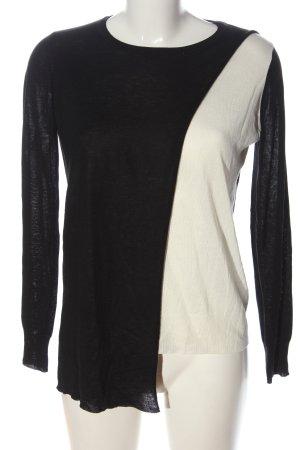 Zara Feinstrickpullover schwarz-weiß Casual-Look