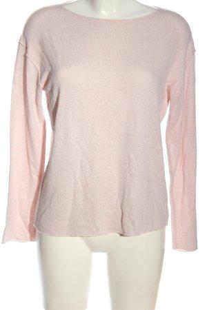 Zara Feinstrickpullover pink meliert Casual-Look