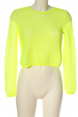 Zara Feinstrickpullover blassgelb Casual-Look