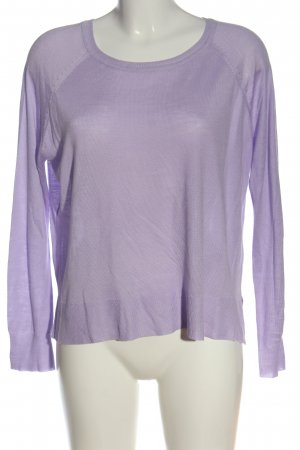 Zara Cienki sweter z dzianiny fiolet W stylu casual