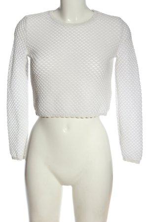 Zara Feinstrickpullover weiß Casual-Look
